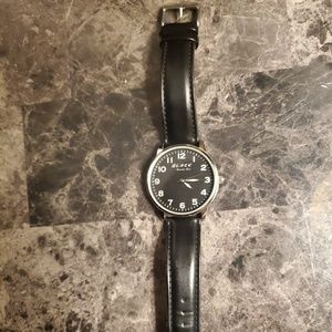 Men's Kenneth Cole Black watch with leather strap